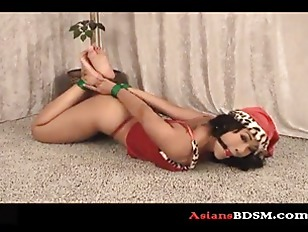 Beautiful Dragon Lily hogtied