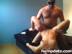 Masked wife gives blowjob and