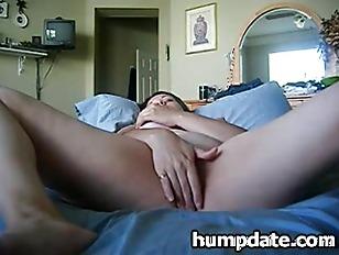 Busty MILF spreads her legs an