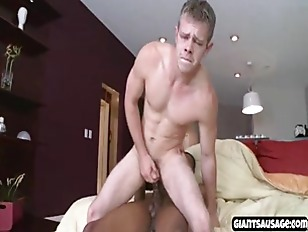 Black dude gets giant cock in