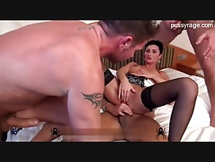 Picture Hot Babe Drilled By Three Cocks