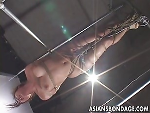 Picture Asian Bondage Scene With Rope Suspension