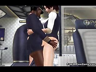 Foxy 3D stewardess getting fuc