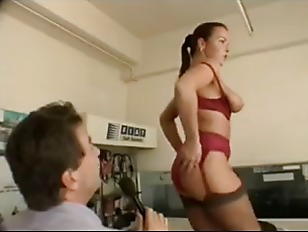 Picture British Chick Fucks A Guy In The Workshop
