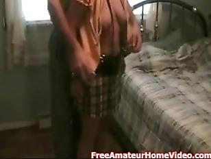 Amateur slave teased and sucks