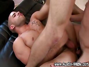 Horny muscley pornstar hunk Au