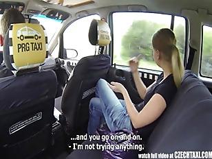 Czech Taxi Blonde Teen gets ri