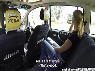Picture Czech Taxi Blonde Young Girl 18+ Gets Ride O...