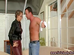 Saucy fetish mistress dominates