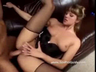 Girl In Lingerie Does Anal On The Couch