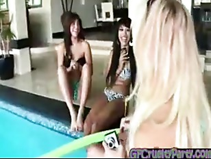 Picture Birthday Girls Invite Stripper To Pool Party