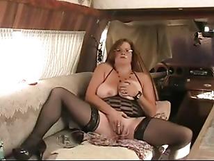 Picture BBW Granny Fucks Ass With Dildo While Smokin