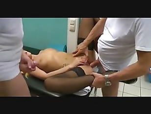Husband in waiting room 2 older doctor study wife 3