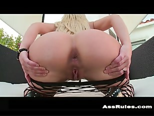 Big white ass anal fucked by b