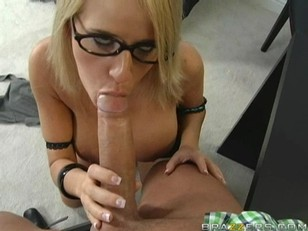 Picture Madison James Blowjob In The Office