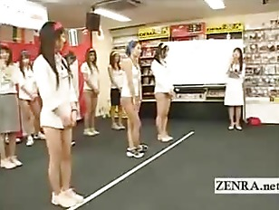 Japan employees play a game wi
