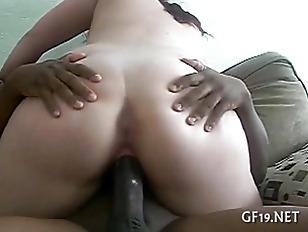 Teen lesbians play with dildo