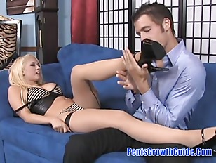 Picture Hot Blonde Do A Good FootJob