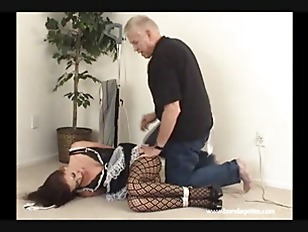 Bondage maid Jocelyn tied up