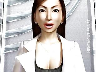 3D hentai MILF gets big tits t