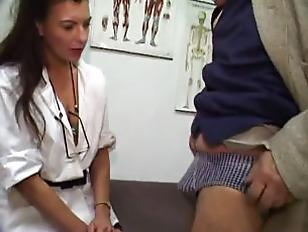 Blowjob Doctor gets cum sample
