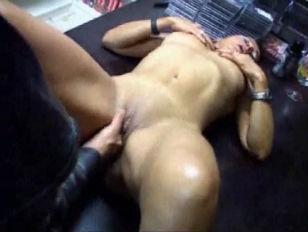 Fisting Sexy MILF in Porn Shop