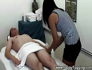 Asian lady giving a massage