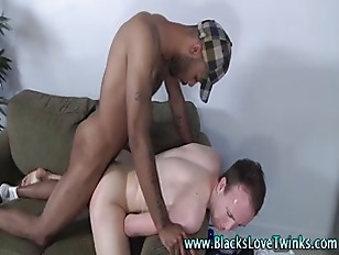 Black cock for cute twink