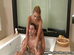 Sexy massage blonde indulges