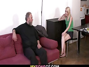 Picture Old Dad Forces His Sons GF Suck His Dick