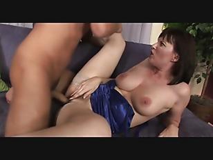 Big tits milf in stockings fucks on the sofa