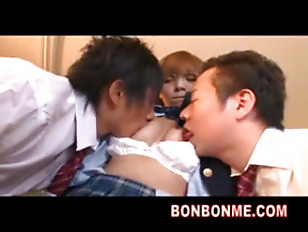 Picture Rio Cute Student Threesome Fucked With Class...
