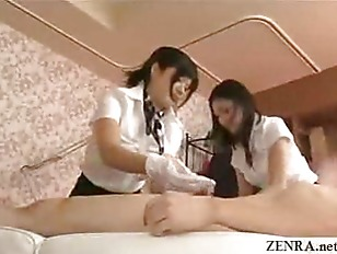 Japanese estheticians rub pant