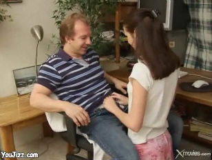 Picture Cute Brunette Cheats On Her Husband