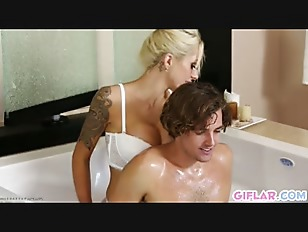 Mom and Stepson Wet Bath Session