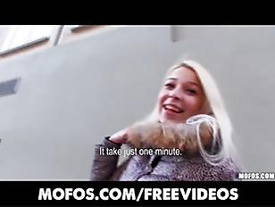 Platinum blonde Czech girl is