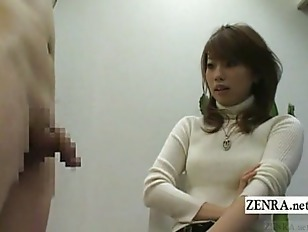 Subtitled Japanese CFNM orgy s