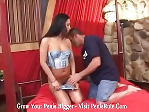 Latin lady licked and loved by a big cock