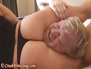 Blonde wrestler gets rough