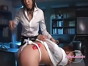 Office lesbian tied up