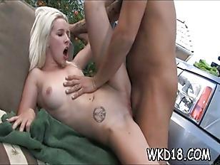 Big penis enters her cunt