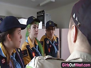 Picture Girls Out West - Hairy Lesbian Scouts Fourso...