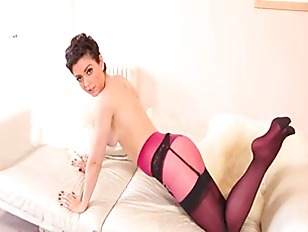 Super sexy purple lingerie and