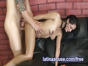 Latina Has Rough Sex With Two