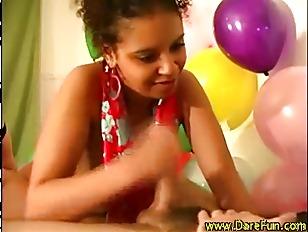 Horny teen ebony amateur