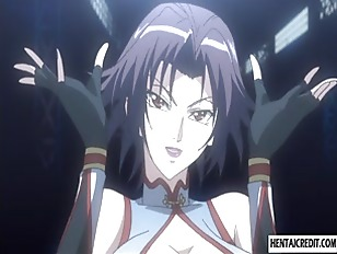 Caught and bound hentai girl gets fucked
