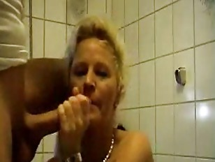 Horny german wife  bathrom fuc