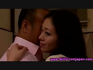 Hot asian milf slut sucking co