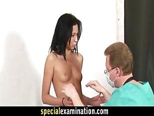 Nasty gynecologist examines 24