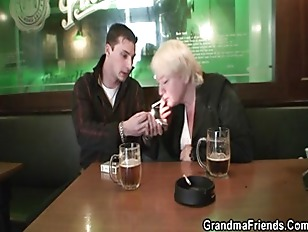 Two buddies pick up drunk gran